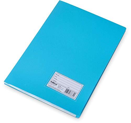 Pasta Catalogo Plastica Oficio Azul 10envel. - 01 Unidade Polibras, Azul