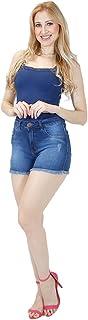 Shorts Jeans Imporium Feminino Cós Alto Cintura Alta com Barra Desfiada 45178