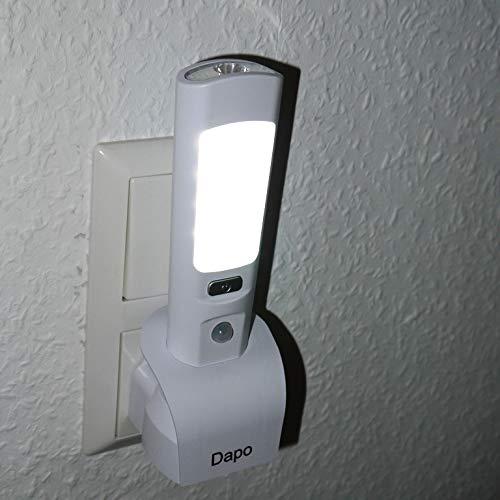 2 x LED-Nachtlicht Taschenlampe Sensor-Not-Lampe-Leuchte-Lampe Gang-Leuchte Notleuchte Kinderleuchte Wandleuchte Stecker-Leuchte Notlicht Treppenhausleuchte Flur-Leuchte Keller-Leuchte