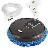 Migaven Robot Aspirapolvere Lavapavimenti, Robot Cleaner USB Ricaricabile Smart Dry Wet Mopping Cleaner Con Funzione Di Purificazione Dell'Aria Spray Per La Pulizia Del Pavimento Di Casa Nero