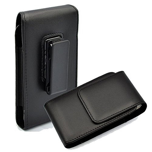 Kingsource Vertical Leather Case Holster Pouch with Rotating Belt Clip Compatible for Apple iPhone 5 iPhone 5C iPhone 5S iPhone SE Color Black