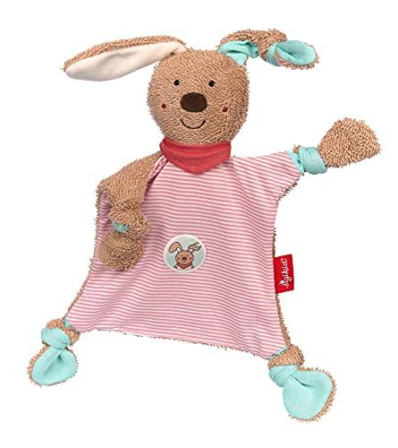 Sigikid 39398 Schnuffeltuch, DubbiDuu Comforter Blanket, Pink/Beige Brown