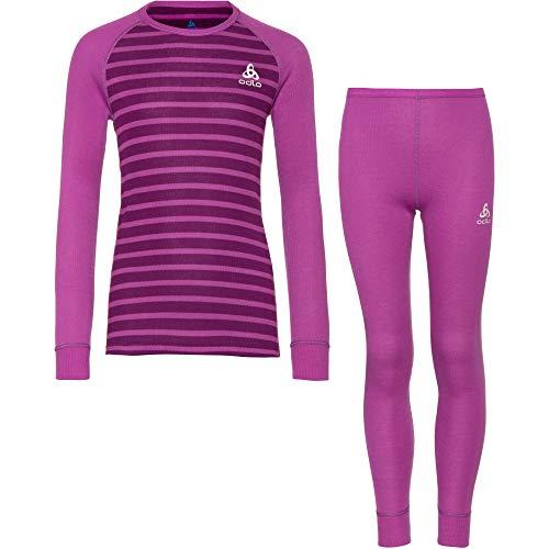 Odlo Jungen Active Warm Trainingsanzug, Hyacinth Violet-Charisma-Stripes, 140