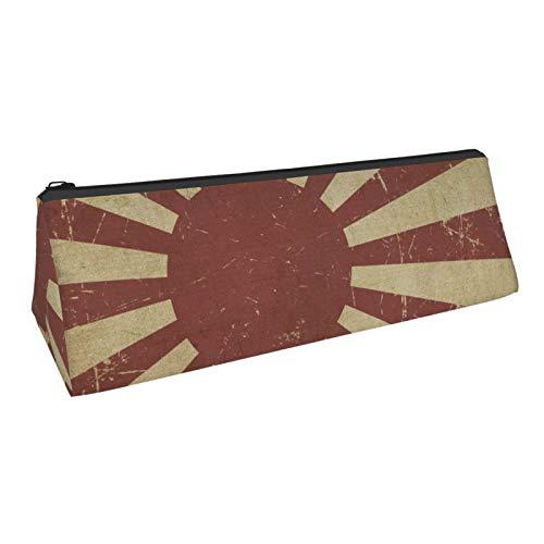 Southern Army Rising Sun Banner Estuche portátil, elegante bolsa de lápices triángulo con cremallera, adecuado para estudiantes escuela
