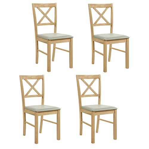 GOLDFAN Esszimmerstühle 4er Set Küchenstühle Ma...