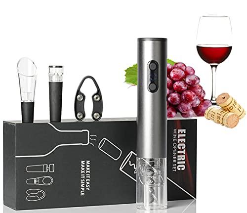 Abrebotellas Eléctrico, Sacacorchos Electrico Automatico Abrelatas de Vino Abridor con Cortador de...