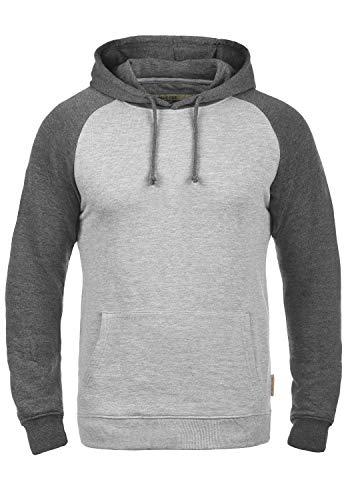 Indicode Elliot Herren Kapuzenpullover Hoodie Pullover Mit Kapuze, Größe:L, Farbe:Light Grey Mix (913)