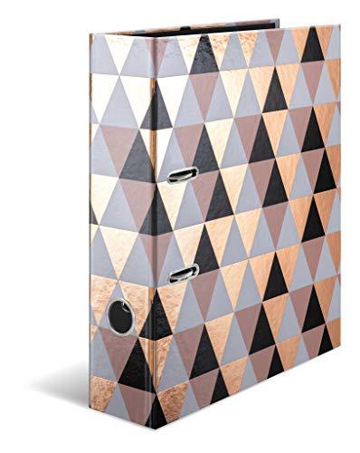 HERMA 7034 Motiv-Ordner DIN A4 GLANZvoll Abstract, 7 cm breit aus stabilem Karton mit Folienveredelung, Ringordner, Aktenordner, Briefordner, 1 Ordner
