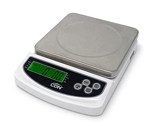 CDN Portion Control Digital Kitchen Scale, 22lb, White