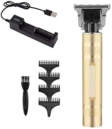 JIAFENG Clippers, T-Outliner Skeleton sans Fil Trimmer Machine Tondeuse à Cheveux Pas d'huile d'or + Argent