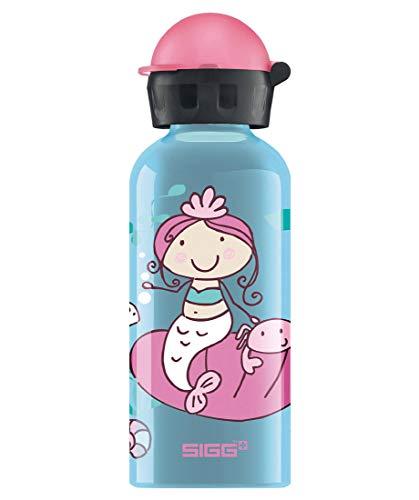 SIGG Neptunia Kinder Trinkflasche (0.4 L), schadstofffreie Kinderflasche mit auslaufsicherem Deckel, federleichte Trinkflasche aus Aluminium