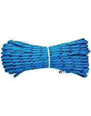 Polypropyleen touw 8 mm x 20 m, blauw/marineblauw multifunctioneel