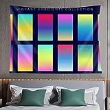 Tapiz de pared,colorful gradient abstract background set,tapiz para colgar en la pared para dormitorio estético como arte de pared y decoración del hogar para el hogar y al aire libre 80*60in