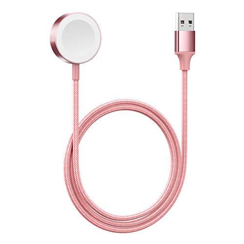 iWatch - Cargador magnético para Apple Watch 6/SE/5/4/3/2/1, color rosa