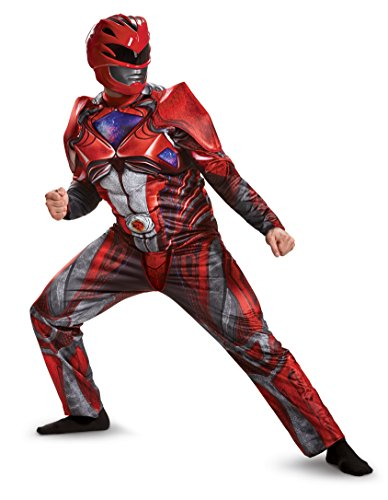 Disguise Men's Red Ranger Movie Muscle Adult Costume, Medium