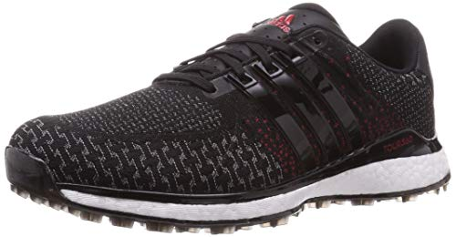 adidas TOUR360 XT-SL Spikeless - Zapatos de golf para hombre, color negro/gris/escarlata 44