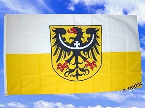 Flagge Fahne ca. 90x150 cm : Niederschlesien niederschlesische Nieder Schlesien