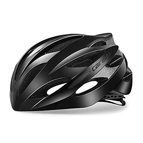Heemtle Ultraleicht 25 Vents Fahrradhelm EPS + PC Abdeckung MTB Rennrad Helm Integral Schimmel (Schwarz L: 58-62cm)