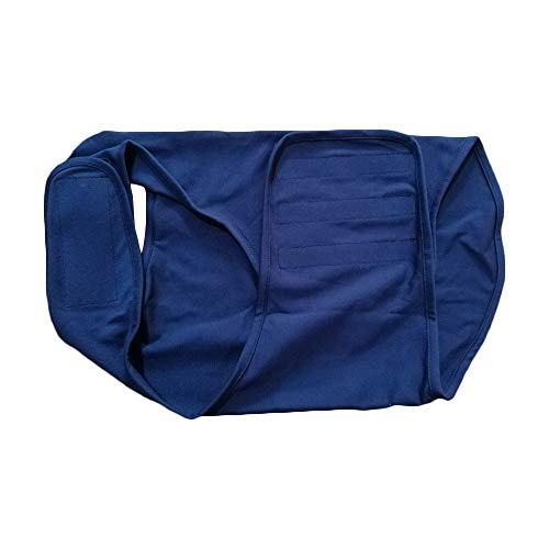 Hundemantel Anti-Angst Beruhigungswesten Angst Hund Shirt Für Hunde Stress Relief Wrap Ruhe bewahren, ruhig bleiben Hundekleidung (Klein, Blau)