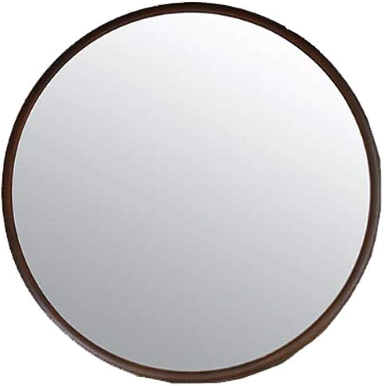 SLH Nordic Bathroom Mirror Dressing Wall Makeup Round Mirror Hanging Mirror Ornament Mirror (Size   M)