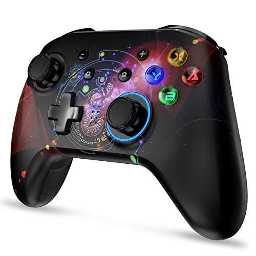 REDSTORM Wireless Controller für Nintendo Switch, Bluetooth Pro Controller für Switch, Kabellos Gamepad mit Wiederaufladbare Akku, Turbo-Funktion, 5 Stufen Vibration, Tastenbeleuchtung