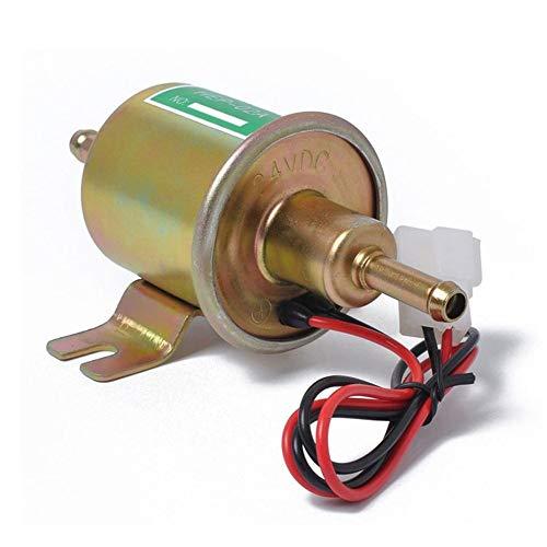 12V / 24V elektronische Kraftstoffpumpe Multifunktionskraftstoffpumpe wunderbare Dieselpumpe 2,5-4 PSI Vergasermotor HEP-02A,12vgold