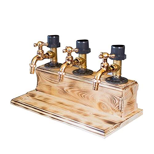 Qiujing Dispensador de madera para bebidas y bebidas para el día del padre