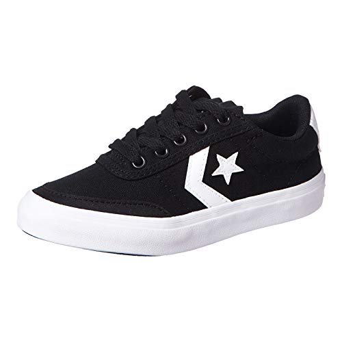 Converse Lifestyle Courtlandt Ox, Zapatillas Unisex niño, Negro (Black/White/Black 001), 30 EU