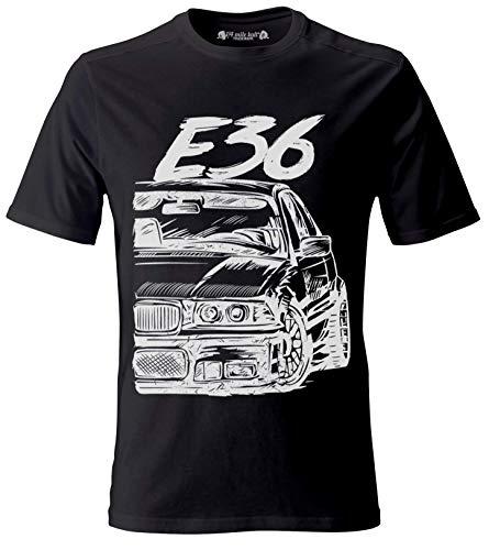 E36 M3 3 Series Herren Schwarzer T-Shirt (M)