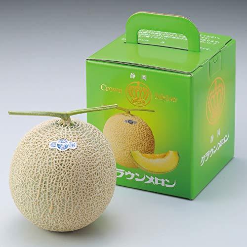 メロン クラウンメロン 静岡県産 白等級 約1.4kg × 玉 お中元 夏ギフト めろん
