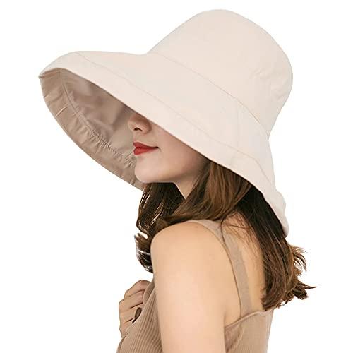 Sombrero de Sol para Mujer, Plegable, protección Solar, ala Ancha, Sombrero de...