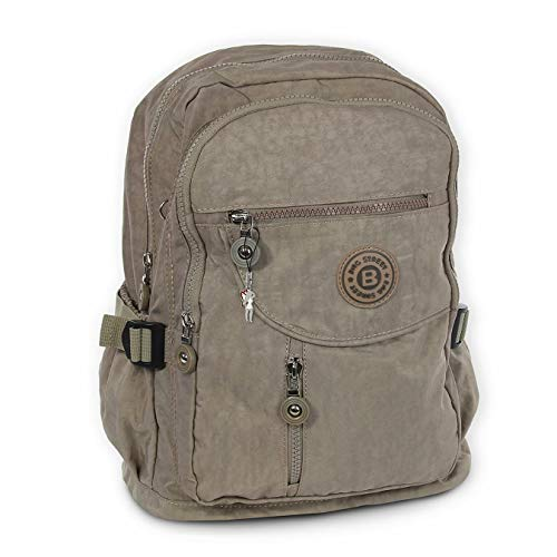 DrachenLeder Damen Herren Sporttasche Rucksack Stone braun Nylon 30x18x38 OTJ604L Nylon Sporttasche