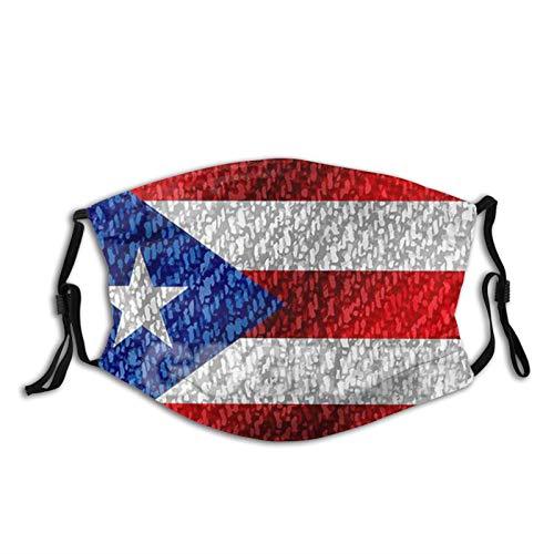 MayBlosom Puerto Rico National Flag Country World2 Máscara de polvo reutilizable para adultos con filtro de carbono