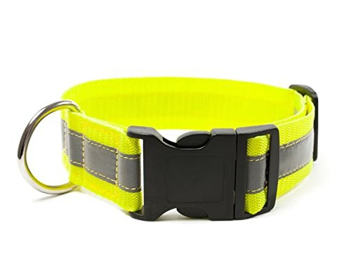 Mystique® Signalhalsband mit Klickverschluss 40mm neon gelb 30-40cm