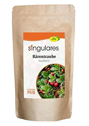 cdVet Singulares Bärentraube 150 g - 100% Bärentraubenblätter - getrocknet und geschnitten - Einzelfuttermittel -