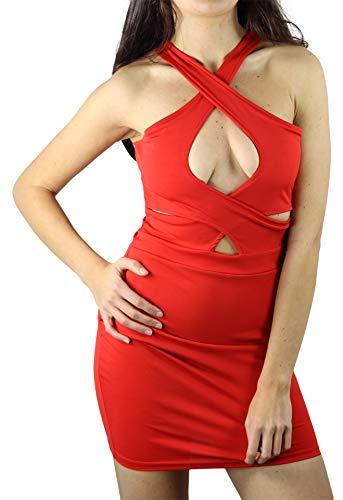 Pradize Vestido Club Roja por Mujer (36)