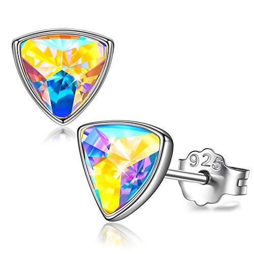 Sellot Muttertagsgeschenk Ohrringe Damen Ohrstecker Silber 925, Funkelnde Sterne Serie, Kristalle von Österreich Ohrringe für Mädchen Frauen Geschenke für Frauen