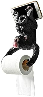 ZGPTX Animal Paper Towel Rack Toilet Roll Paper Rack Toilet Creative Wall Hanging Cute Monkey Toilet Decorated Kitchen Nordic