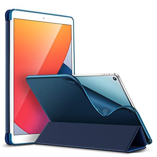 ESR Funda Slim para iPad 8ª Gen (2020)/7ª Gen (2019) 10,2 Pulgadas [Modo Automático de Reposo/Actividad] [Tapa Trasera Flexible][Soporte Escritura/Visualización] Serie Rebound - Azul