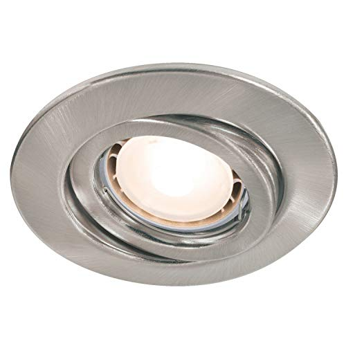 Paulmann 920.25 Quality Einbauleuchte Set schwenkbar LED 3x3,5W 230V GU10 51mm Eisen gebürstet/Stahlblech