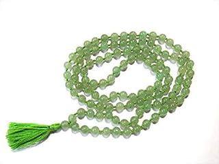 Zoya Gems & Jewellery 108 bead Green JADE Stone Jaap mala japa jap Necklace 6mm Gemstone HAND KNOTTED nirvana meditation H...