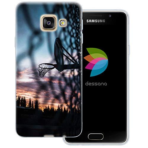 dessana - Cover trasparente per Samsung Galaxy A3 (2016), motivo: pallacanestro