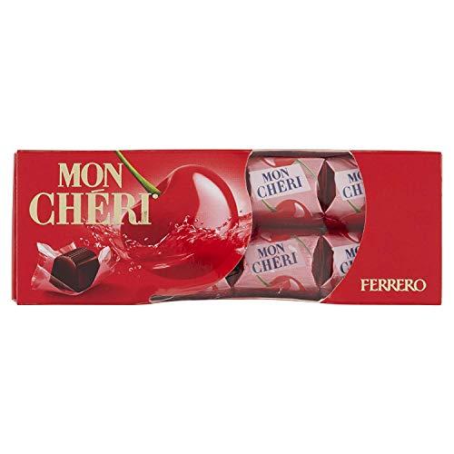 Mon Cheri - Bombón de cereza con licor, caja de 16