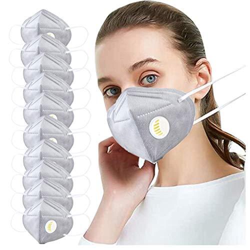 757 𝐌𝐚𝐬𝐜𝐚𝐫𝐢𝐥𝐥𝐚𝐬 5 Capas Bandanas Cómodo Respirable con Pendientes Elásticos Actividades al Aire Libre(10/20/50Piezas)
