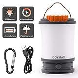 COVMAX Rechargeable LED Camping Lantern, Ultra Bright 650 Lumens, 4 Light Modes, 4400mAh Power Bank, IPX44 Waterproof,...