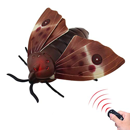 Tipmant RC Moth Animal Toy Remote Controlled Car Vehicle Electric Insect Kids Toys Gifts for Birthday Christmas Halloween