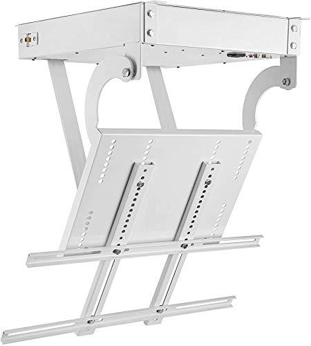 BAOSHISHAN Supporto TV elettrico da soffitto motorizzato per schermi piatti TV da 32-70 pollici Staffa per gancio da soffitto con posizionamento elettronico del telecomando