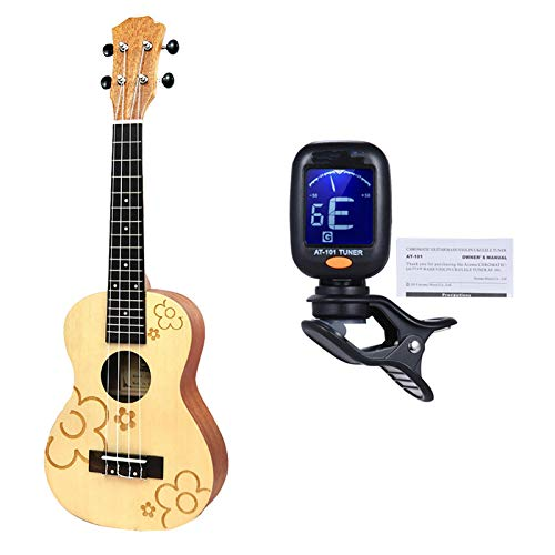 KEPOHK Ukelele de 21/23 pulgadas Guitarra acústica Diapasón de palisandro 4 cuerdas...