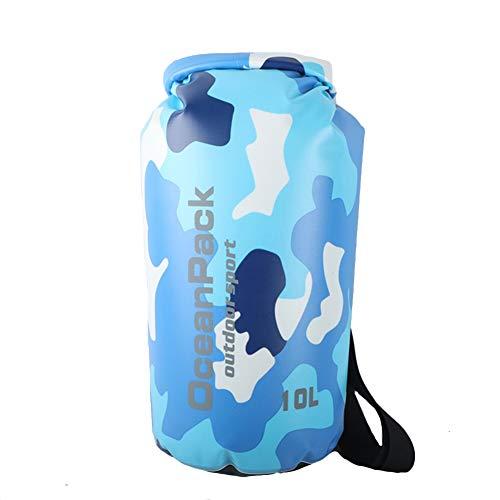 Icegrey Bolsa Seca Impermeable Bolsas Estancas Dry Bag para Rafting, Kayak navegación Senderismo, esquí, Buceo, Pesca, Escalada, Camping Azul 30L