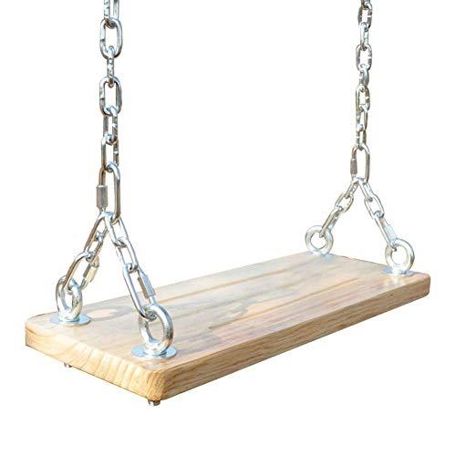 Conjunto de columpio de madera de cuerda exterior interior de asiento de oscilación de árbol de madera para niños adultos